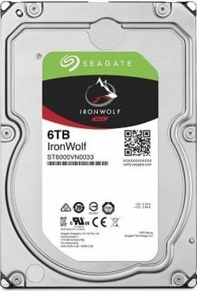 "Seagate IronWolf 6TB 7200RPM 256MB Cache SATA 6.0GB/s 3.5"" Internal Hard Drive Bare Drive ST6000VN0033"