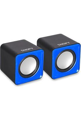 Snopy Sn-66 2.0 Mavi Usb Speaker Sn-66-M