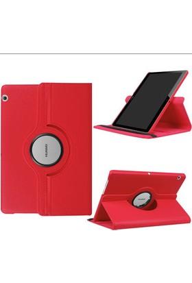 Fujimax Huawei Mediapad T3 10 360 Derece Dönen Tablet Kılıf - Kırmızı