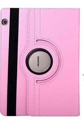 Fujimax Huawei Mediapad T3 10 360 Derece Dönen Tablet Kılıf - Pembe