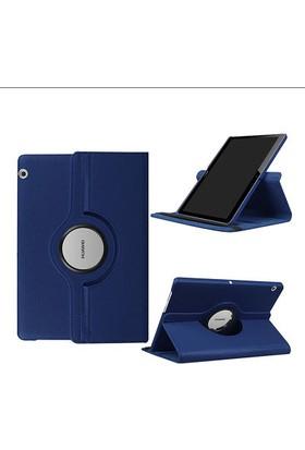 Fujimax Huawei Mediapad T3 10 360 Derece Dönen Tablet Kılıf+9H 330 Derece Bükülür Nano (Temper+Japon Silikonu) Ekran Koruyucu - Lacivert