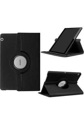 Fujimax Huawei Mediapad T5 10 360 Derece Dönen Tablet Kılıf - Siyah