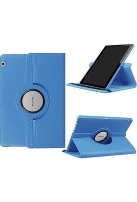 Fujimax Huawei Mediapad T5 10 360 Derece Dönen Tablet Kılıf - Turkuaz
