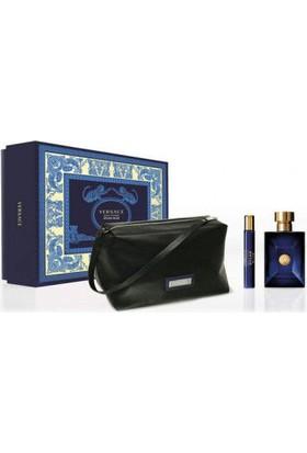 Versace Dylan Blue Erkek Parfüm Set (Edt 100 + Edt 10 + Çanta)