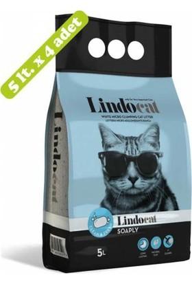 Lindo Cat Sabun Kokulu Ince Taneli Topaklanan Kedi Kumu 5lt x 4 Adet