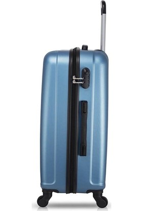 Wallace Line Abs 3'Lü Valiz Seti Kabin + Orta + Büyük Mavi