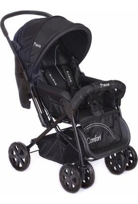 Prava P06 Comfort Çift Yönlü Bebek Arabası Siyah