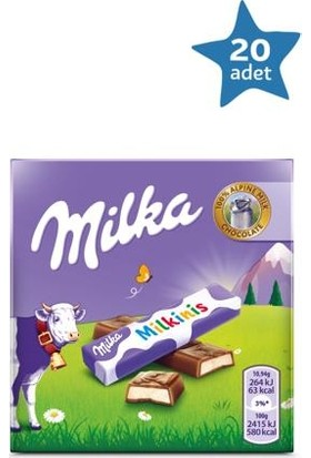 Milka Milkinis 43 gr - 20 Adet