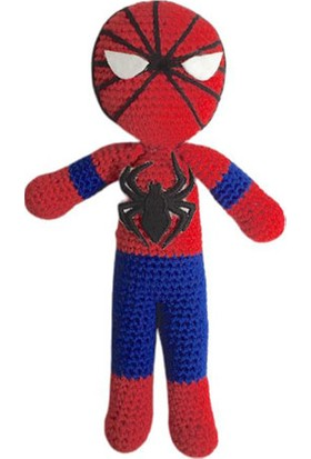 İlmek Bebek Amigurumi El Örgüsü Oyuncak Örümcek Adam 22 cm