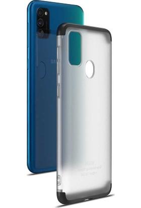 Teleplus Samsung Galaxy M30S Kılıf 3-1 Ays 360 Buzlu Mat Sert Kapak Siyah + Nano Ekran Koruyucu