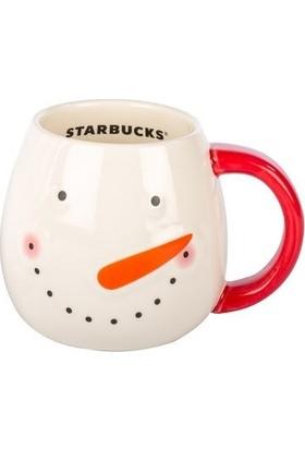 Starbucks Yılbaşı Kardan Adam Porselen Bardak Kupa