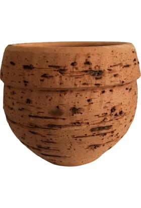 Armenbotanik Antik Görünümlü Eskitme Toprak Saksı 12 x 12 cm