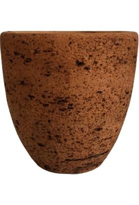 Armenbotanik Antik Görünümlü Eskitme Toprak Saksı 15 x 15 cm