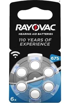 Rayovac 675 Numara İşitme Cihazı Pili 5'li 6 Paket - 30 Adet