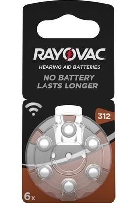 Rayovac 312 Numara Işitme Cihazı Pili 5'li 6 Paket - 30 Adet