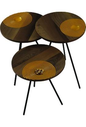 Deka Style Balance Ceviz Zigon Sehpa