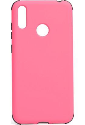 Magazabu Xiaomi Redmi Note 7 Kılıf Ultra Korumalı Sert Fantastik Kapak + Cam Ekran Koruyucu Pembe