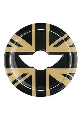 Mediatech Mini Cooper Countryman 3D Araba Direksiyon Amblem Yapışkanı Black Gold