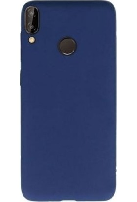 Teleplus Samsung Galaxy M10s Lüks Silikon Kılıf + Nano Ekran Koruyucu Lacivert