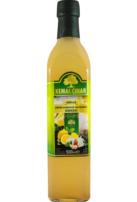 Kemal Çınar Katkısız Doğal Limon Sarımsak Maydanoz Sirkesi 500 ml