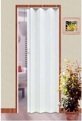 Erikmann Katlanır Akordiyon Pvc Kapı Tek Açılım Beyaz 132 x 213 cm