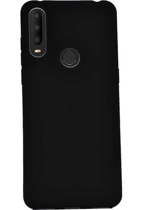 Case Street Alcatel 3x 2019 Kılıf Premier Silikon Esnek Koruma + Nano Glass Siyah