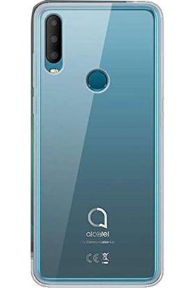 Case Street Alcatel 3x 2019 Kılıf Süper Silikon Yumuşak Koruma + Nano Glass Şeffaf