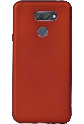 Case Street LG K40S Kılıf Premier Silikon Esnek Koruma + Nano Glass Kırmızı