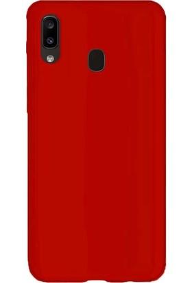 Case Street Samsung Galaxy M10s Kılıf Neva Slim Fit Silikon + Nano Glass Kırmızı