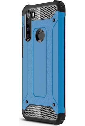 Case Street Xiaomi Redmi Note 8T Kılıf Crash Tank Çift Katman Koruyucu Mavi