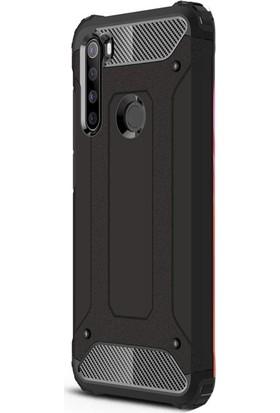 Case Street Xiaomi Redmi Note 8T Kılıf Crash Tank Çift Katman Koruyucu Siyah