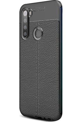 Case Street Xiaomi Redmi Note 8T Kılıf Niss Silikon Deri Görünümlü Siyah