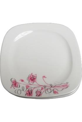 Güral Porselen Gala 06 Model 6 Adet 18 cm Pasta Tabağı Takımı