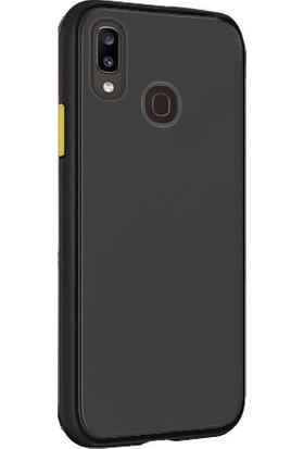 Tbkcase Huawei Y7 2019 Kılıf Mat Yüzey Defence Silikon Siyah + Nano Ekran Koruyucu