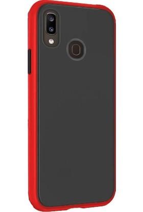 Tbkcase Huawei Y7 2019 Kılıf Mat Yüzey Defence Silikon Kırmızı + Nano Ekran Koruyucu
