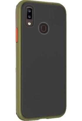 Tbkcase Huawei Y7 2019 Kılıf Mat Yüzey Defence Silikon Yeşil + Nano Ekran Koruyucu