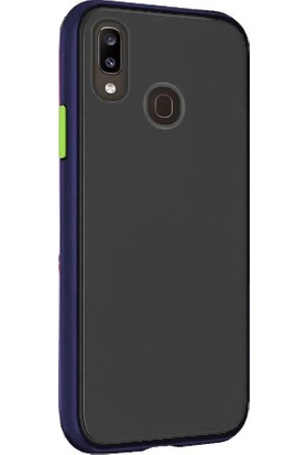 Tbkcase Huawei Y7 2019 Kılıf Mat Yüzey Defence Silikon Lacivert + Nano Ekran Koruyucu