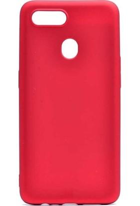 Tbkcase Oppo A5S Kılıf Lüks Silikon Kırmızı
