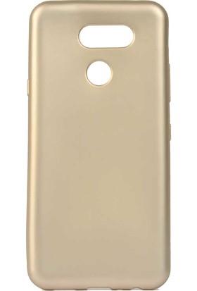 Tekno Grup LG K40s Kılıf Mat Premium Silikon Kılıf Gold