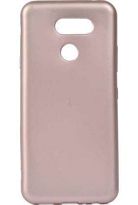 Tekno Grup LG K40s Kılıf Mat Premium Silikon Kılıf Rose