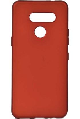 Tekno Grup LG K50s Kılıf Mat Premium Silikon Kılıf Kırmızı