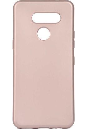 Tekno Grup LG K50s Kılıf Mat Premium Silikon Kılıf + Cam Ekran Koruyucu Rose