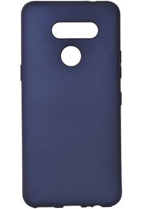Tekno Grup LG K50s Kılıf Mat Premium Silikon Kılıf + Cam Ekran Koruyucu Lacivert