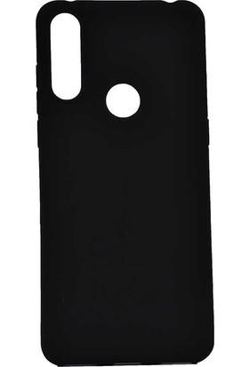 Tekno Grup Alcatel 3x 2019 Kılıf Mat Premium Silikon Kılıf + Cam Ekran Koruyucu Siyah