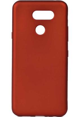 Tekno Grup LG K40s Kılıf Mat Premium Silikon Kılıf + Nano Ekran Koruyucu Kırmızı