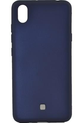 Happyshop LG K20 2019 Kılıf Ultra İnce Mat Silikon + Cam Ekran Koruyucu - Lacivert