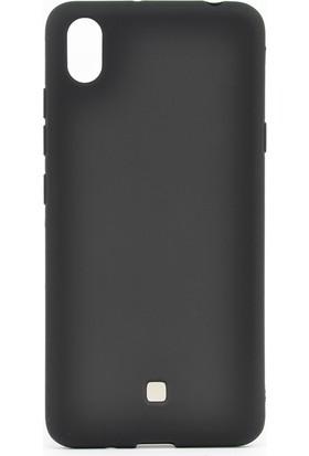 Happyshop LG K20 2019 Kılıf Ultra İnce Mat Silikon + Cam Ekran Koruyucu - Siyah