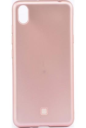 Happyshop LG K20 2019 Kılıf Ultra İnce Mat Silikon + Cam Ekran Koruyucu - Rose Gold