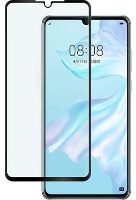 Casestore Huawei P30 5D Fiber Nano Ekran Koruyucu Cam - Siyah