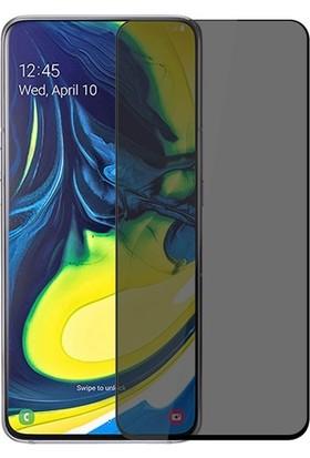 Casestore Samsung Galaxy A90 5D Gizlilik Filtreli Hayalet Cam - Siyah